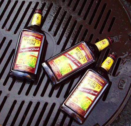 Protesters Dump Rum